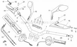 Frame - Handlebar - Controls - Aprilia - LH lights selector