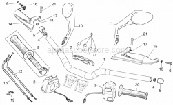 Frame - Handlebar - Controls - Aprilia - Side panel support rubber