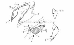 Frame - Rear Body II - Aprilia - Rear fairing, white