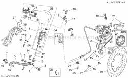 Frame - Rear Brake System I - Aprilia - Rear brake pipe