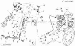Frame - Rear Brake System I - Aprilia - Rear brake pump union