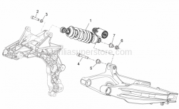 Frame - Rear Shock Absorber - Aprilia - Hex socket screw M10x50*