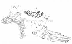 Frame - Rear Shock Absorber - Aprilia - T bush *