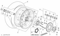 Frame - Rear Wheel - Aprilia - Bearing 6205-2rs1