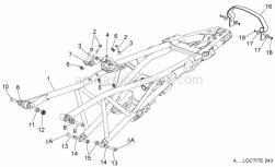 Frame - Saddle Support - Aprilia - Threaded rivet
