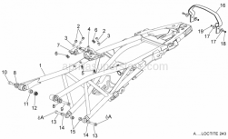 Frame - Saddle Support - Aprilia - Wiring harness support