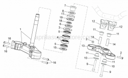 Frame - Steering - Aprilia - STEERING COLUMN CONTROL