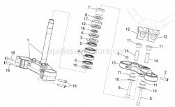 Frame - Steering - Aprilia - Ball bearing