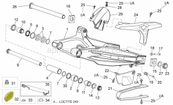 Frame - Swing Arm - Aprilia - Brake pipe protection