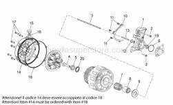 Engine - Clutch I - Aprilia - COMPLETE CLUTCH CONTROLL FLANGE