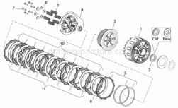 Engine - Clutch II - Aprilia - Clutch pressure plate