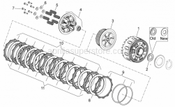 Engine - Clutch II - Aprilia - PRESSURE PLATE WITH I.P.