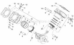 Engine - Cylinder With Piston - Aprilia - wristpin retaining clip