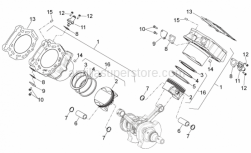 Engine - Cylinder With Piston - Aprilia - PISTON-CIRCLIPS GUDGEON PIN GROUP (CAST)