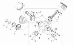 Engine - Drive Shaft - Aprilia - PRIMARY REDUCTION DRIVING GEAR