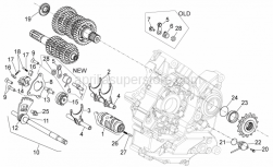 Engine - Gear Box Selector - Aprilia - Gear shaft+spring cpl.
