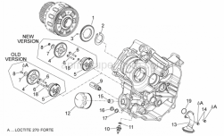 Engine - Oil Pump - Aprilia - COMPLETE SUPPORT OF OIL FILTER