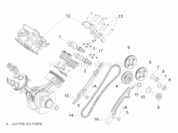 Engine - Rear Cylinder Timing System - Aprilia - Chain guide plate