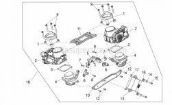 Engine - Throttle Body - Aprilia - THROTTLE VALVE BODY