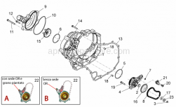 Engine - Water Pump Ii - Aprilia - Screw w/ flange