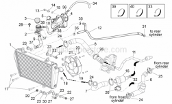 Frame - Cooling System - Aprilia - Self-locking nut M6