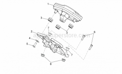 Frame - Dashboard - Aprilia - Socket support SUPERSEDED BY 898888