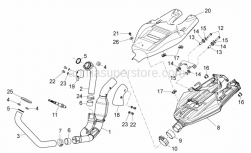 Frame - Exhaust Unit - Aprilia - Spring plate M6