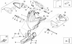 Frame - Front Lights - Aprilia - Hex socket screw M6x100