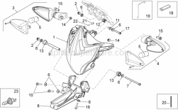 Frame - Front Lights - Aprilia - Hex socket screw M6x35