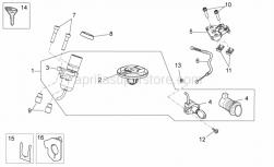Frame - Lock Hardware Kit - Aprilia - Spring plate M6