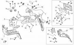 Frame - Rear Body III - Aprilia - Plate holder  lockup