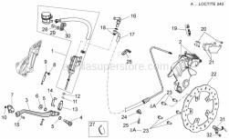 Frame - Rear Brake System - Aprilia - Rear brake pipe