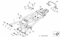 Frame - Saddle Support - Aprilia - Low self-locking nut