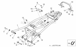Frame - Saddle Support - Aprilia - Washer 8,4x16x1,6