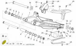 Frame - Swing Arm - Aprilia - Nut