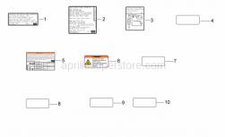Frame - Usa Decals - Aprilia - Battery decal