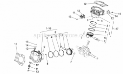 Engine - Cylinder With Piston - Aprilia - CYLINDER-PISTON-PIN-RING 1