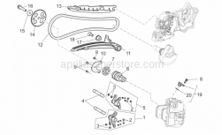 Engine - Front Cylinder Timing System - Aprilia - bolt for securing  timing gear M6X25 T.S