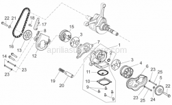 Engine - Oil Pump - Aprilia - GASKET BETWEEN CRANKASE AND OIL POMP