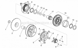 Engine - Transmission I - Aprilia - MOVABLE DRIVER HALF-PULLEY WITH I.P.