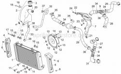 Frame - Cooling System - Aprilia - Screw w/ flange M5x9