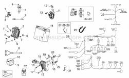 Frame - Electrical System Ii - Aprilia - Grip shift