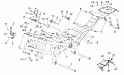 Frame - Frame - Aprilia - Rubber exhaust