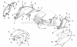 Frame - Front Body - Front Mudguard - Aprilia - LH rear panel,