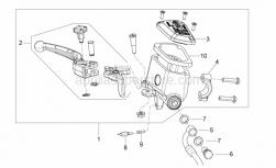 Frame - Front Master Cilinder - Aprilia - stop Button