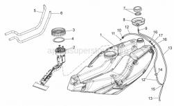 Frame - Fuel Tank - Aprilia - RING NUT