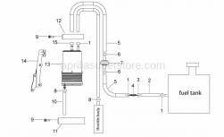 Frame - Fuel Vapour Recover System - Aprilia - Hose clip 14,5x8