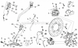 Frame - Rear Brake System - Aprilia - Rear brake pipe support