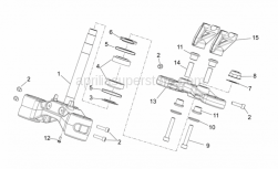 Frame - Steering - Aprilia - Rubber spacer