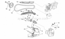 Engine - Front Cylinder Timing System - Aprilia - Adjuster screw